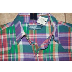 Polo by Ralph Lauren Shirts - $125 Polo Ralph Lauren Plaid Western Shirt Small